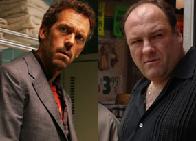 Hugh Laurie, James Gandolfini, House, The Sopranos