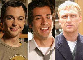 Jim Parsons (Big Bang Theory), Zachary Levi (Chuck), Kevin McKidd (Journeyman)