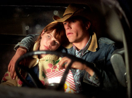 Heath Ledger, Michelle Williams in Brokeback Mountain