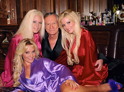 The Girls Next Door, Gallery, holly, kendra, bridget, silk robes with hef