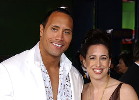 """Dwayne """"The Rock"""" Johnson and wife Dany"""