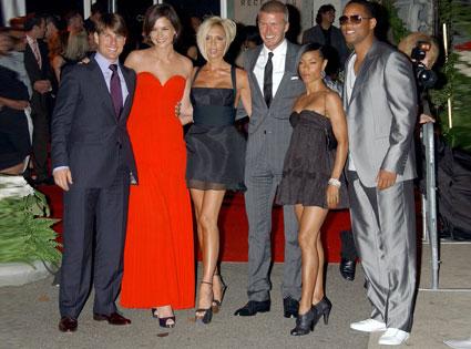Tom Cruise, Katie Holmes, Victoria Beckham, David Beckham