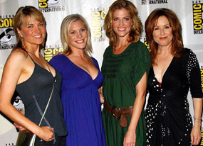 Lucy Lawless, Katee Sackhoff, Tricia Helfer, Mary McDonnell