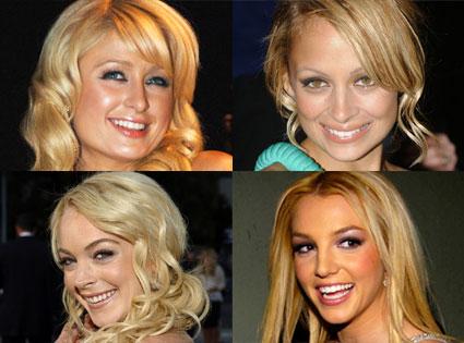 Paris Hilton, Nicole Richie, Lindsay Lohan, Britney Spears