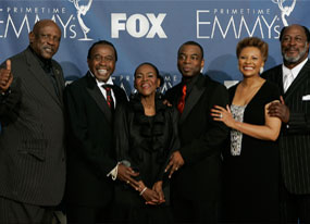 Cast of Roots, Emmys Backstage