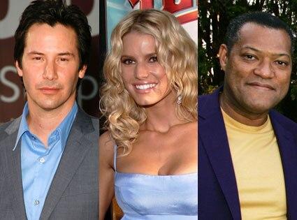 Keanu Reeves, Jessica Simpson, Laurence Fishburne