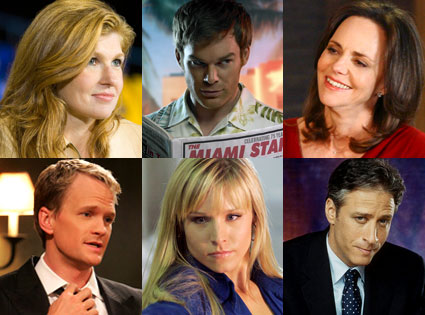 Connie Britton (Friday Night Lights), Michael C. Hall (Dexter), Sally Field (Brothers & Sisters), Neil Patrick Harris (How I Met Your Mother), Kristen Bell (Heroes), Jon Stewart (The Daily Show)