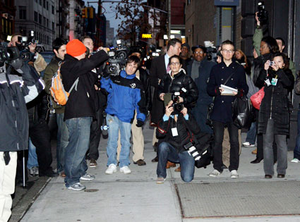 Media surrounding Heath Ledger's Manhattan Apartment