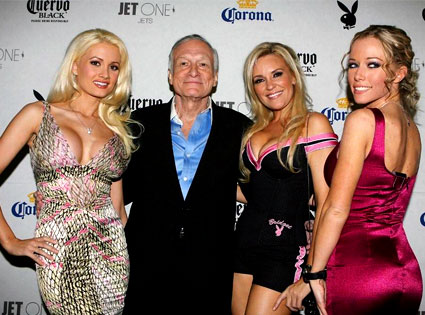 Holly Madison, Hugh Hefner, Bridget Marquardt, Kendra Wilkinson