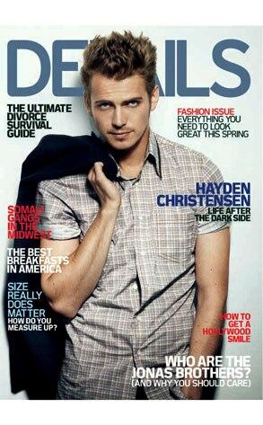 Hayden Christensen, Details Magazine