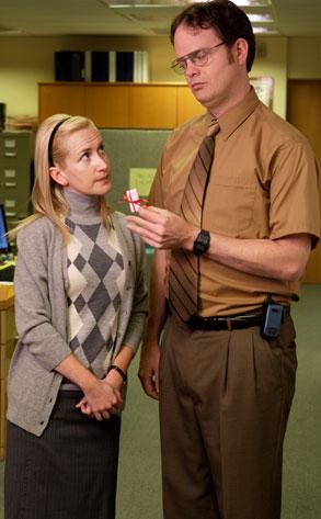 Rainn Wilson, Angela Kinsey, The Office