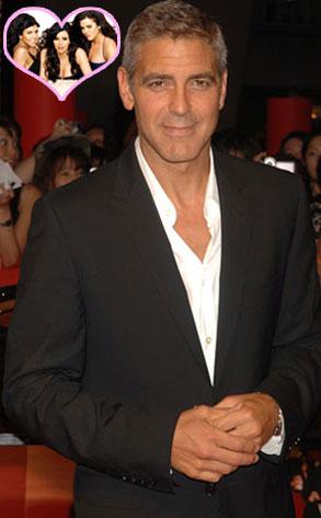 George Clooney, Kim Kardashian, Kourtney Kardashian, Khloe Kardashian
