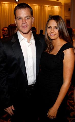 Matt Damon, Luciana Bozán Barroso