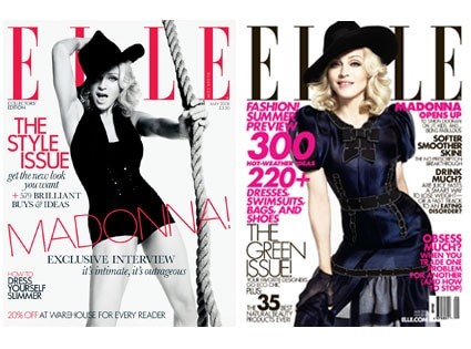 Madonna, Elle Magazine (UK and US Covers)