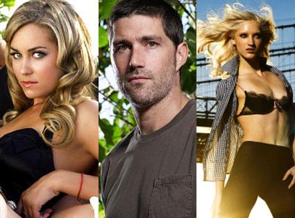 Lauren Conrad (The Hills), Matthew Fox (Lost), Anya (America's Next Top Model)