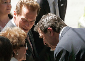 Arnold Schwarzenegger, Nancy Reagan
