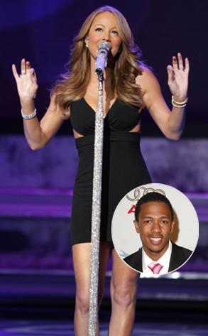Mariah Carey on America idol, Nick Cannon