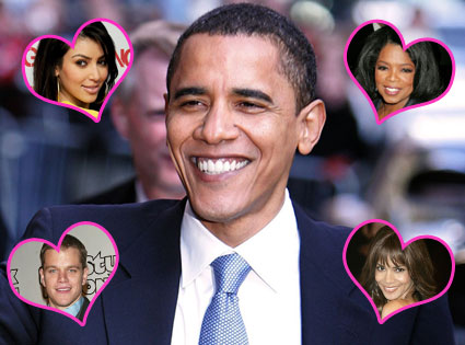 Barack Obama, Kim Kardashian, Oprah, Matt Damon, Halle Berry