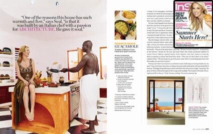 Heidi Klum, Seal, InStyle Magazine (Cover/Inside)