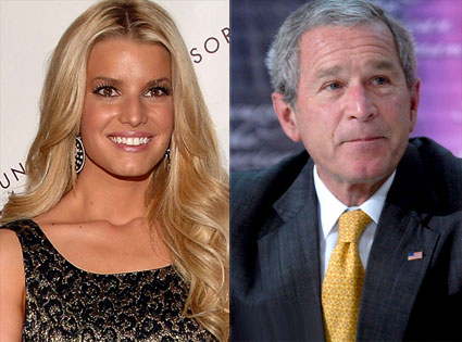 Jessica Simpson, George Bush