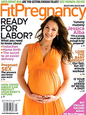 Jessica Alba, Fit Pregnancy Magazine