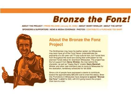 Bronze the Fonz
