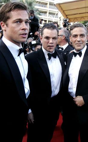 Brad Pitt, Matt Damon, George Clooney