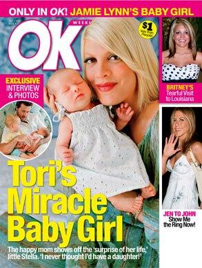 Tori Spelling, OK! Magazine
