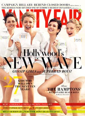 Kristen Stewart, Blake Lively, Emma Roberts, Amanda Seyfried, Vanity Fair Magazine