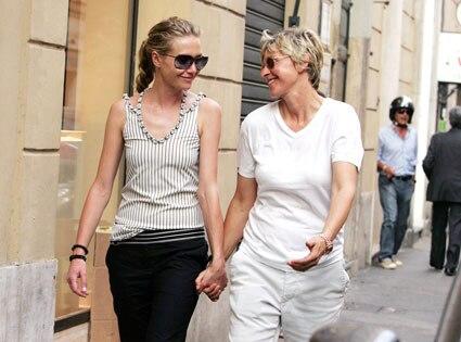 Ellen degeneres portia de rossi married three years for Ellen degeneres and portia de rossi story