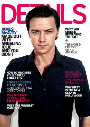 James McAvoy, Details Magazine
