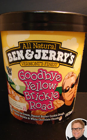 Ben & Jerry's Goodbye Yellow Brickle Road Ice Cream, Elton John