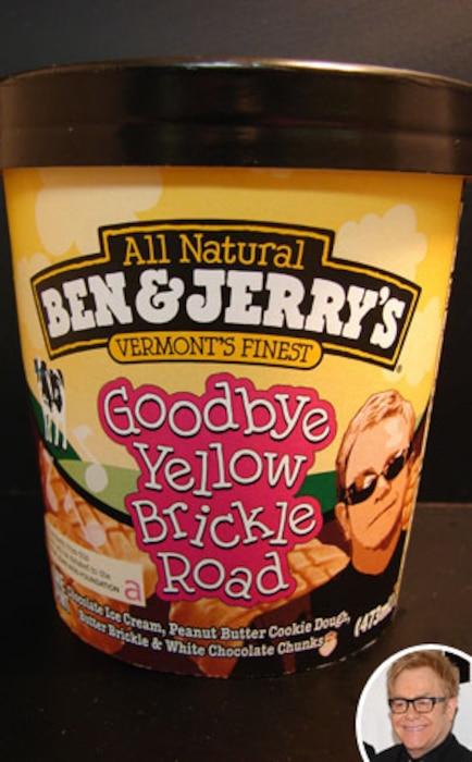 Ben & Jerry's Goodbye Yellow Brickle Road Ice Cream, Elton John