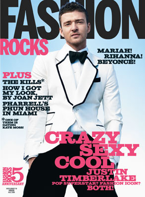Justin Timberlake, Fashion Rocks Magazine