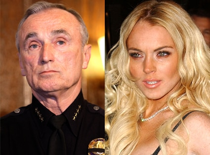 William Bratton, Lindsay Lohan