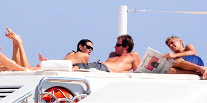 Cindy Crawford, Randy Gerbe, George Clooney