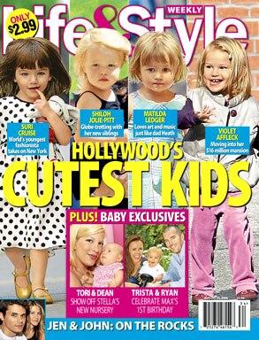 Suri Cruise, Shiloh Jolie-Pitt, Matilda Ledger, Violet Affleck, Life & Style Magazine