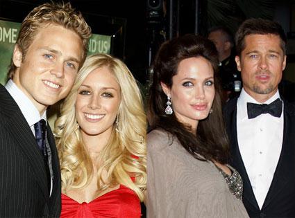 Heidi Montag, Spencer Pratt, Angelina Jolie, Brad Pitt