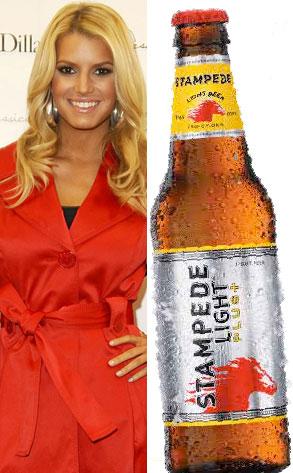 Jessica Simpson, Stampede Light, Beer