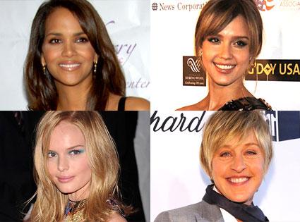 Halle Berry, Jessica Alba, Kate Bosworth, Ellen DeGeneres