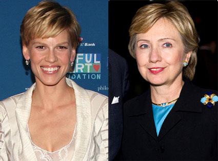 Hilary Swank, Hillary Clinton