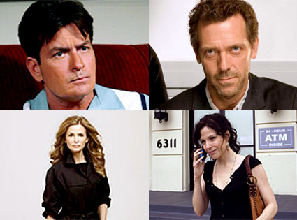 Charlie Sheen, Hugh Laurie, Kyra Sedgwick, Mary- Louise Parker