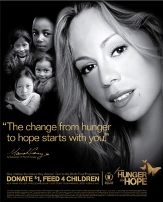 Mariah Carey, Hunger Relief Poster