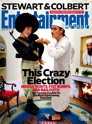 Jon Stewart, Stephen Colbert, EW cover