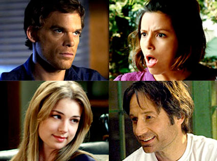 Michael C. Hall (Dexter), Eva Longoria (Desperate Housewives), Emily Van Camp (Brothers & Sisters), David Duchovny (Californication)