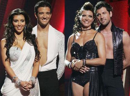 Kim Kardashian, Mark Ballas, Misty May-Treanor, Maksim Chmerkovskiy, Dancing with the Stars
