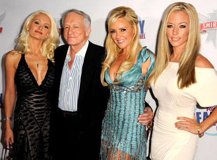 Hugh Hefner, Holly Madison, Bridget Marquardt, Kendra Wilkinson