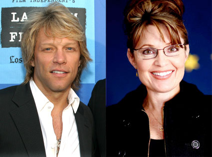 Jon Bon Jovi, Sarah Palin