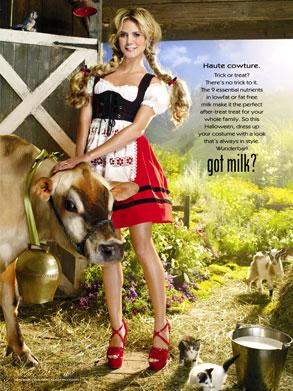 Heidi Klum, Got Milk? Ad