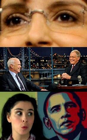 Tina Fey, John McCain, David Letterman, Sarah Silverman
